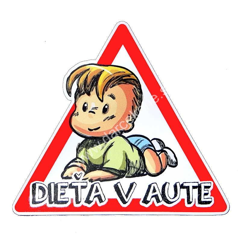 dieta v aute nalepka)