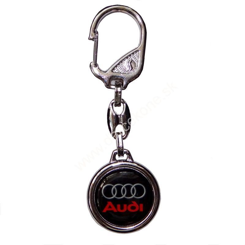 Auto kľúčenka prívesok Audi čierna 1f14d5db141
